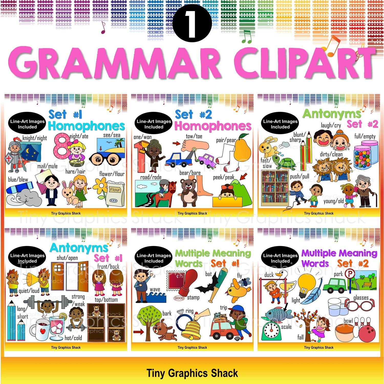 ELA Grammar Clip Art Bundle 1.