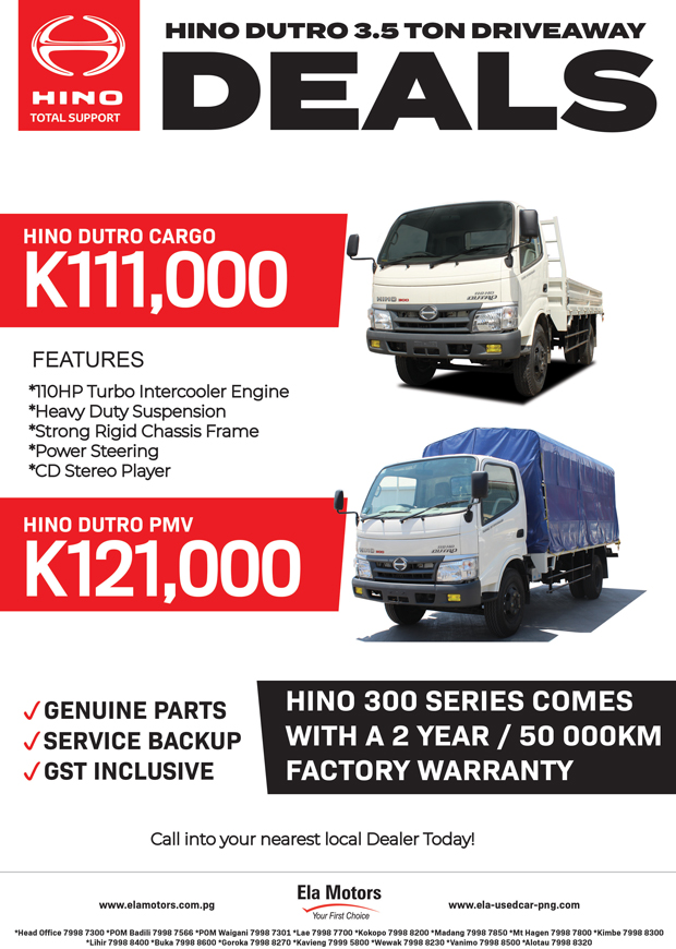 Hino Promotions.