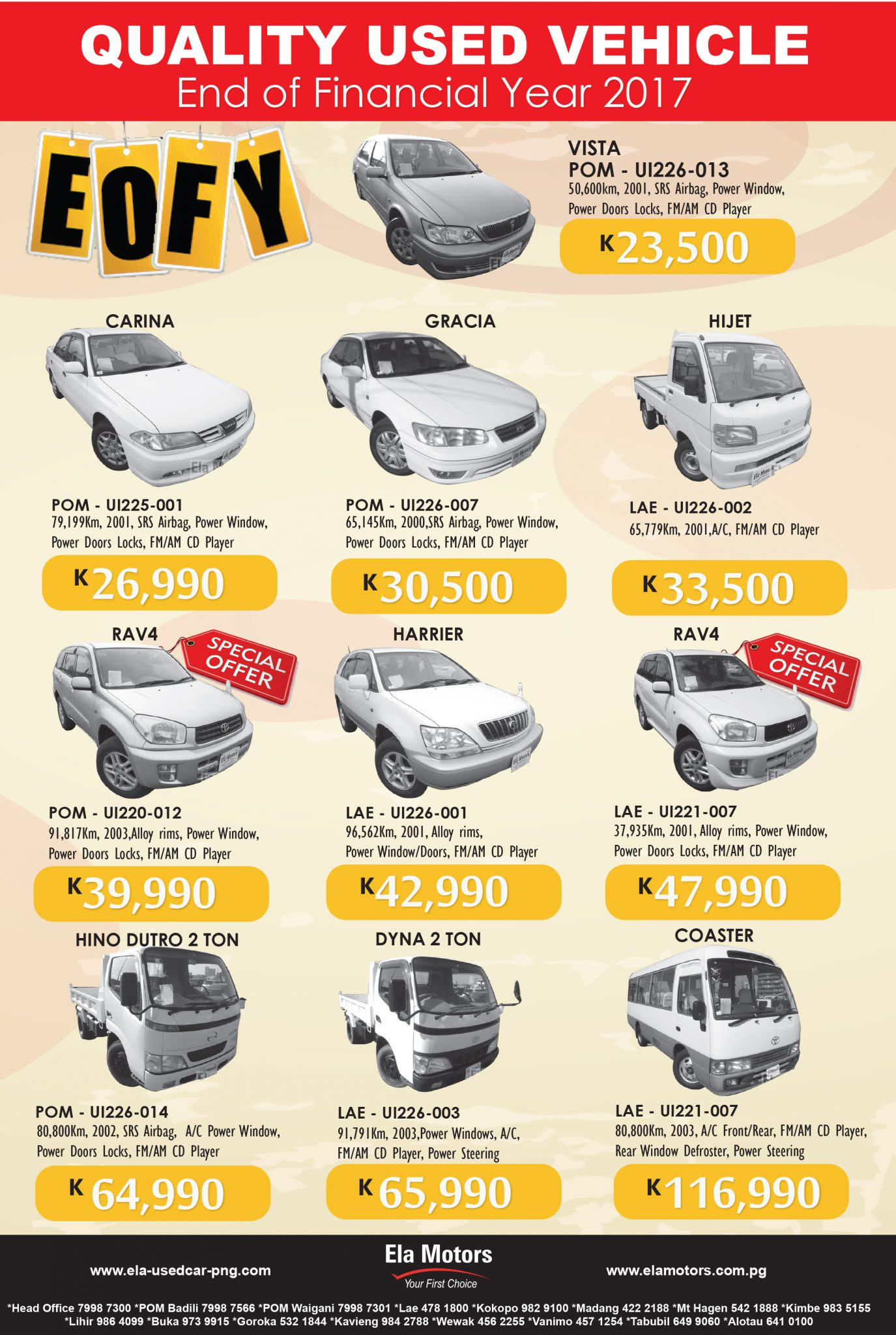 End Of Financial Year Specials.