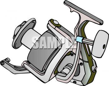 Royalty Free Clip Art Image: Elaborate Fishing Reel.