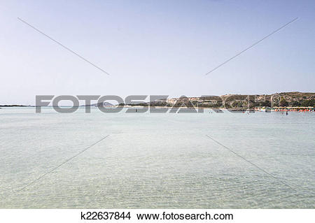 Drawings of Sand beach of famous Elafonisi k22637844.