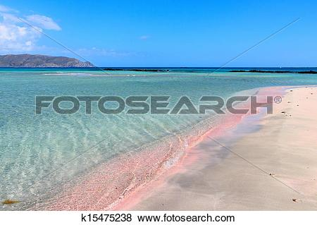 Pictures of Elafonisi pink beach k15475238.
