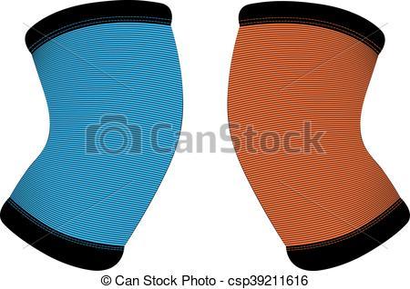 Vector Clip Art of knee pad elastic.