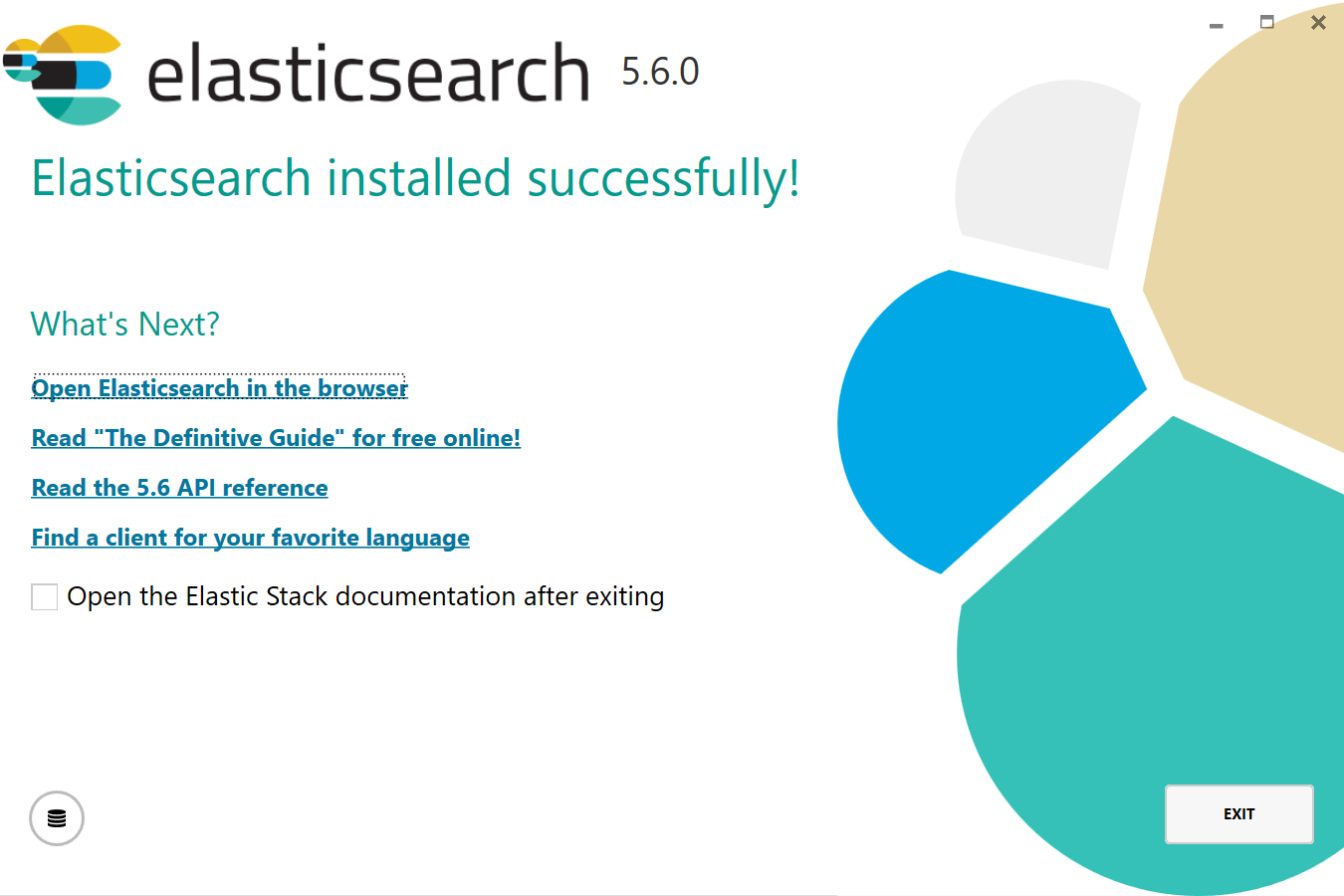 Fix Elasticsearch logo on closing screen · Issue #82.