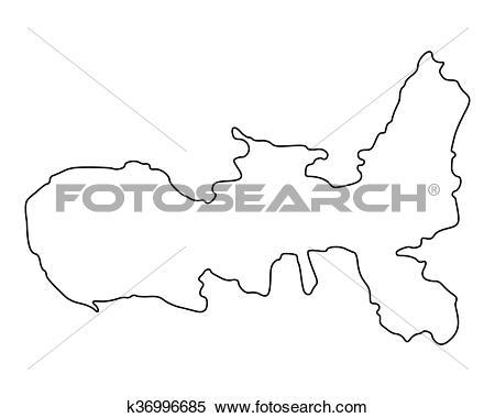 Clipart of Map of Elba k36996685.