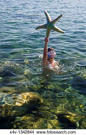 Stock Photo of Fake Starfish, Isola d?Elba, Elba, Tuscany, Italy.