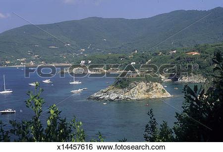 Stock Images of Isola d'Elba veduta dell'isola della Paolina.