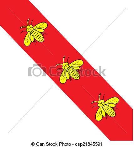 EPS Vectors of island elba flag with bee symbol csp21845591.