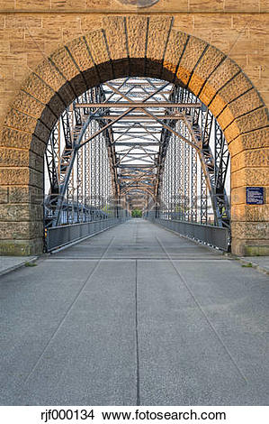 Stock Photo of Germany, Hamburg, Harburg, Old Harburg Elbe bridge.