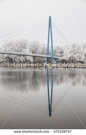 Elbe Bridge Stock Photos, Royalty.