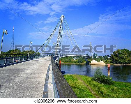 Stock Images of Bridge across the Elbe k12306206.