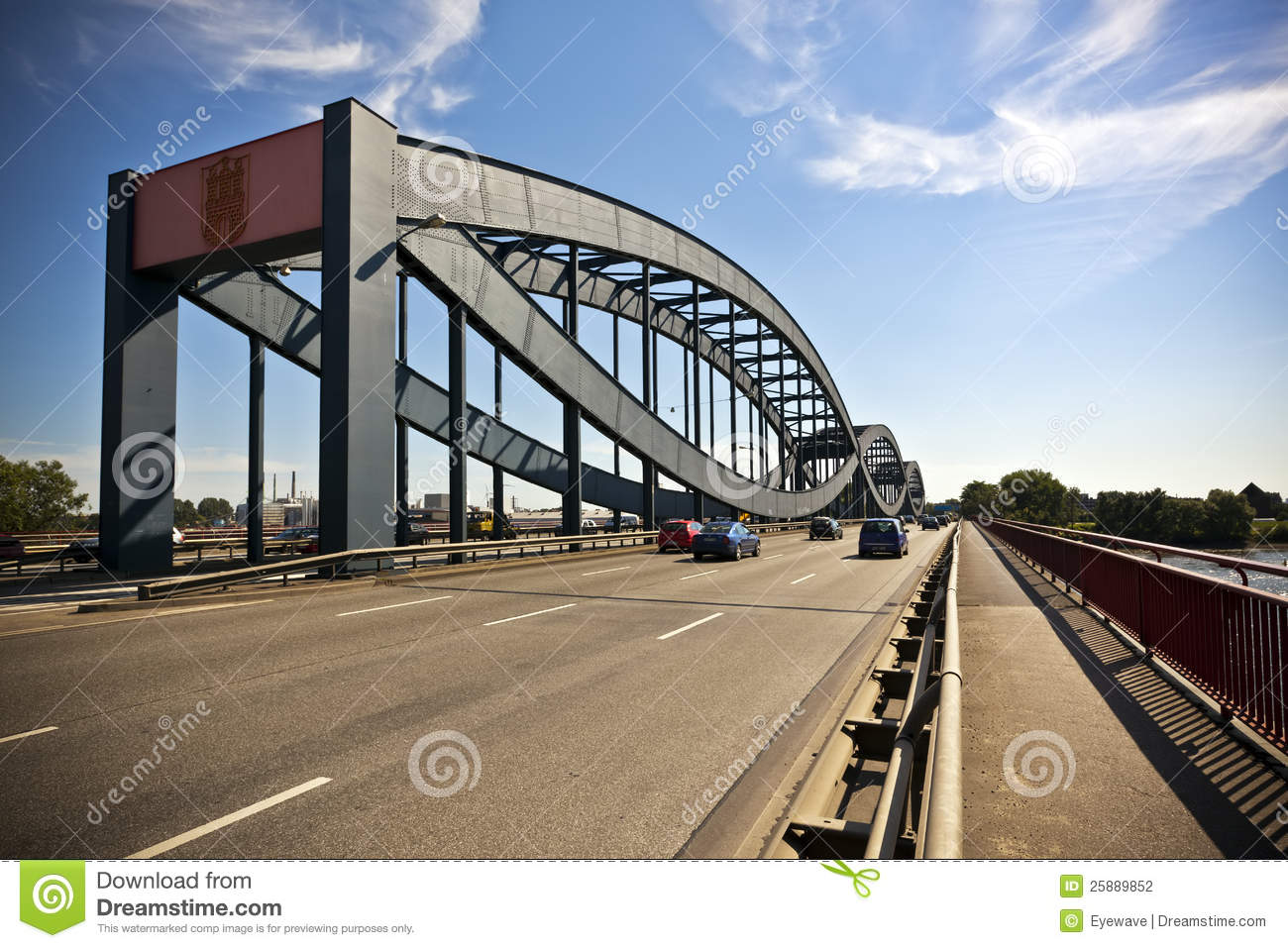 Elbe Bridge At Hamburg Stock Photography.