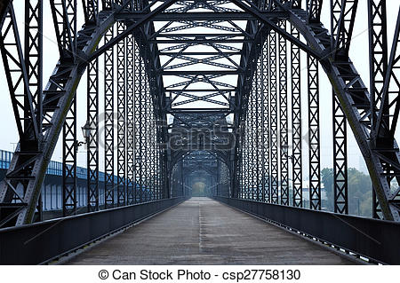 Stock Photos of Elbe bridge.