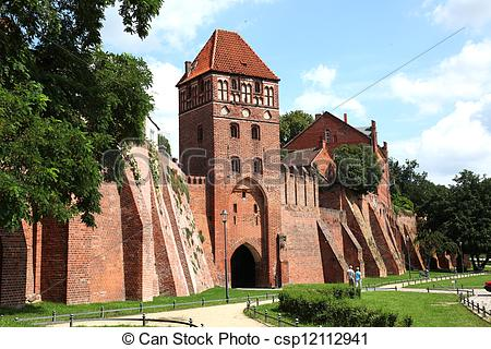 Stock Photo of Elbe Gate Tangermuende.