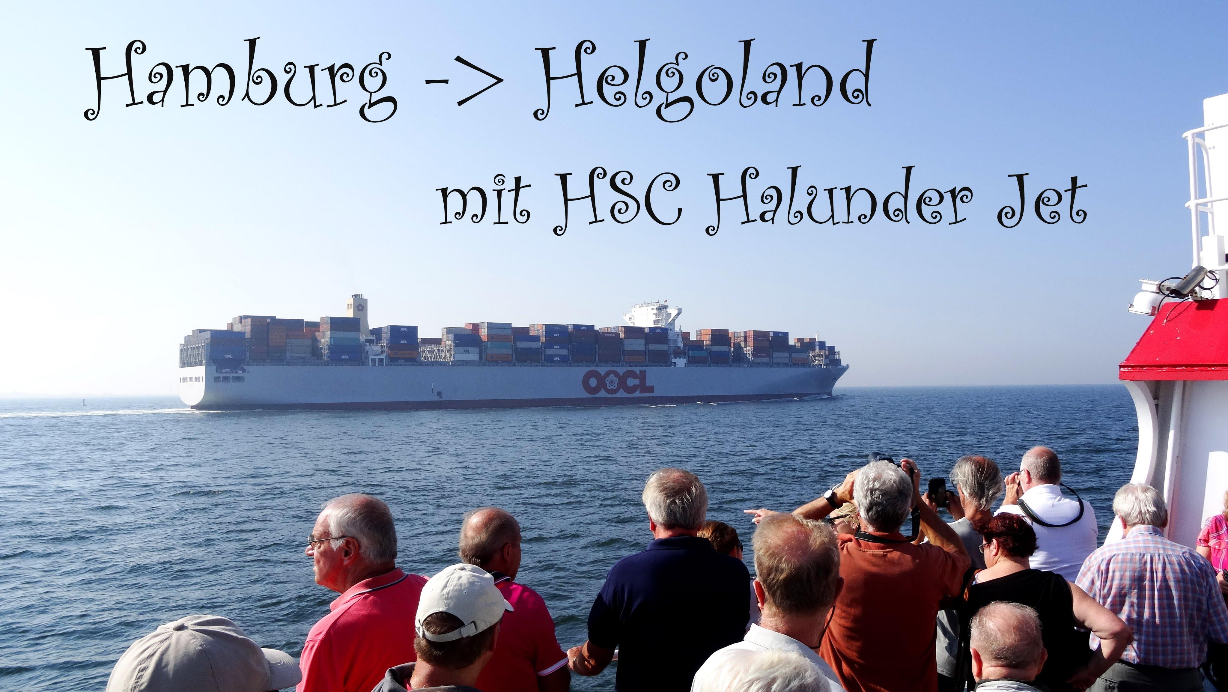 Schifffahrt Hamburg Helgoland über Wedel Cuxhaven HSC Halunder Jet.