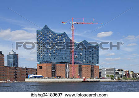 Picture of Elbe Philharmonic Hall and Columbus House, Hamburg.