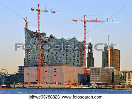 "Stock Photo of ""Elbe Philharmonic Hall and St. Michaelis church."