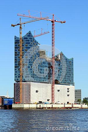 Elbe Philharmonic Hall Stock Photo.
