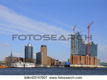 "Stock Photography of ""Elbe Philharmonic Hall, Kehrwiederspitze."