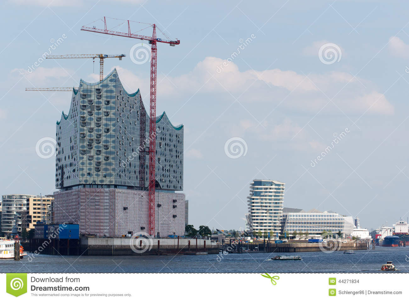 Elbe Philharmonic Hall In Hamburg Stock Photo.