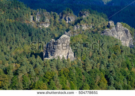 Elbe Sandstone Mountains Stock Photos, Royalty.