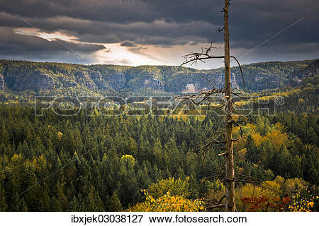 """Picture of """"View from Kuhstall lookout point, Elbe Sandstone."""