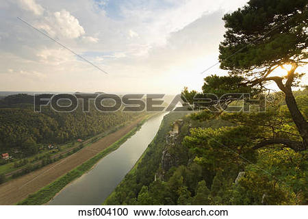 Stock Photography of Germany, Saxony, Elbe Sandstone Mountains.