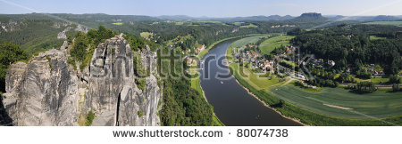 Elbe Sandstone Mountains Bastei Rathen Saxony Stock Photo 80074717.