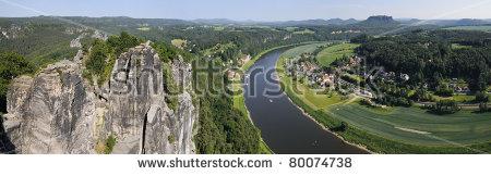 Elbe Sandstone Mountains Bastei Rathen Saxony Stock Photo 80074717.