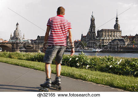 Stock Image of Germany, Saxony, Dresden, Old Town, Hofkirche and.