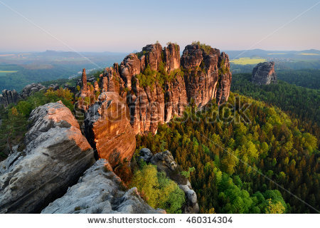 Elbe Valley Stock Photos, Royalty.