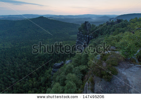 Elbe River Canyon Stock Photos, Royalty.