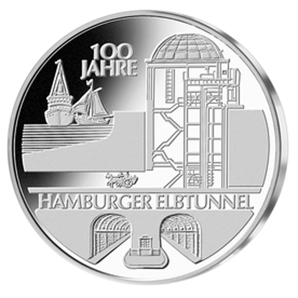 Germany 10€ Elbe Tunnel 2011 J.