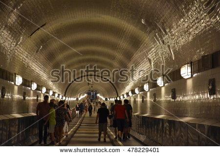 Elbe Tunnel Stock Photos, Royalty.