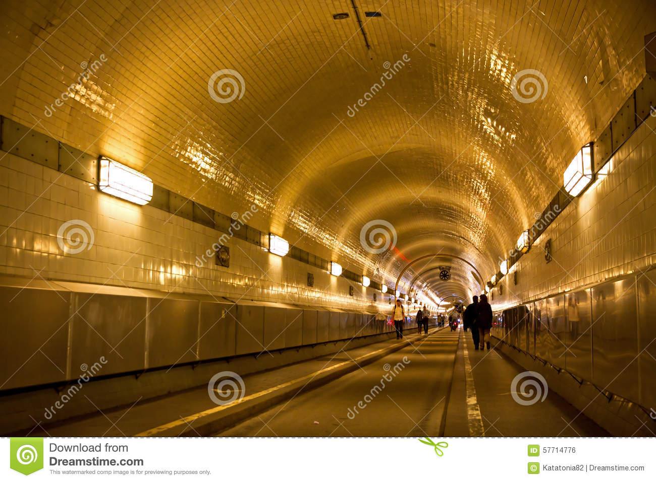 Elbe Tunnel In Hamburg Stock Image.