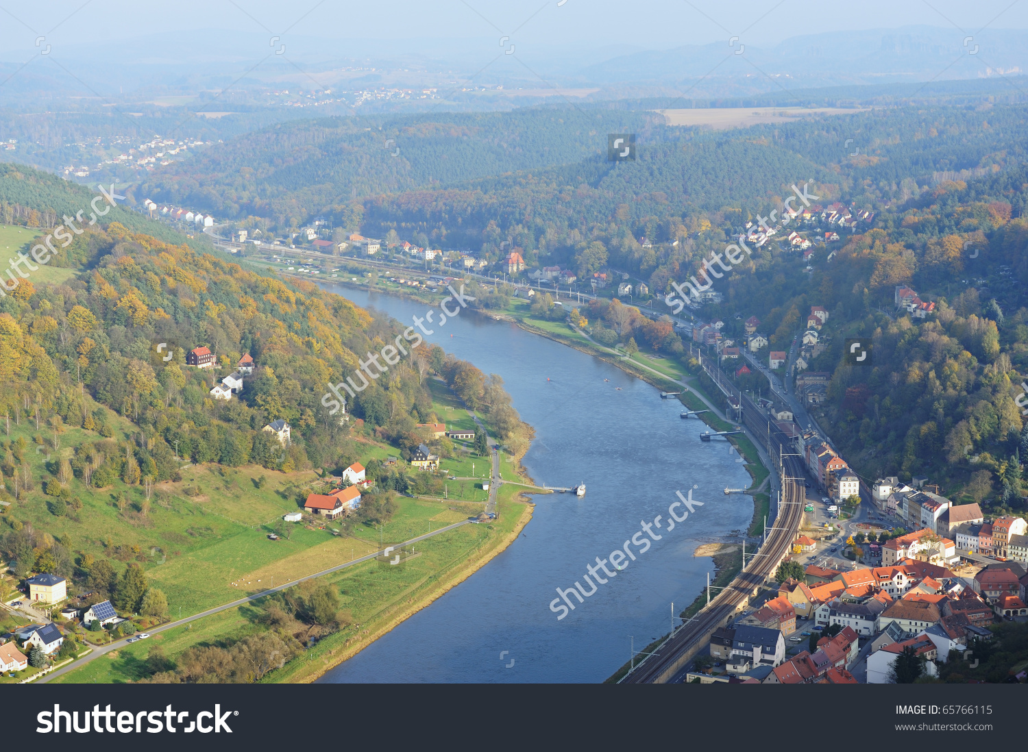 View From Koenigstein Fortress (Near Dresden) Looking Down On Elbe.
