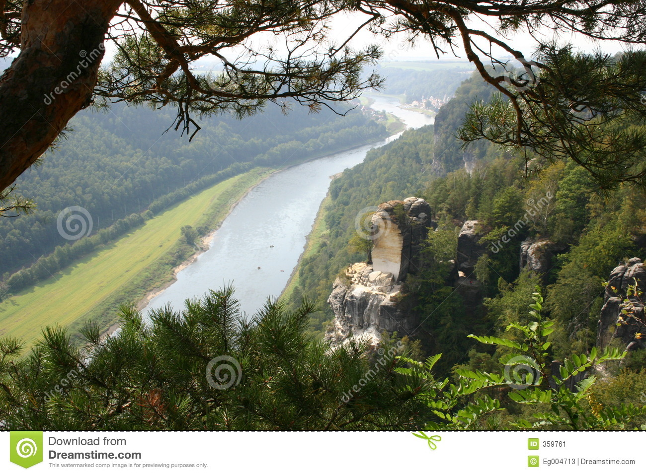 Elbe Valley Near Dresden Stock Image.