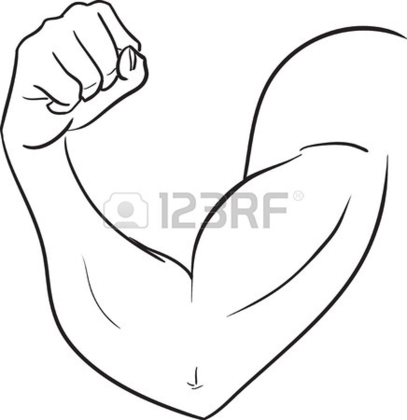Elbow Clipart Black And White.