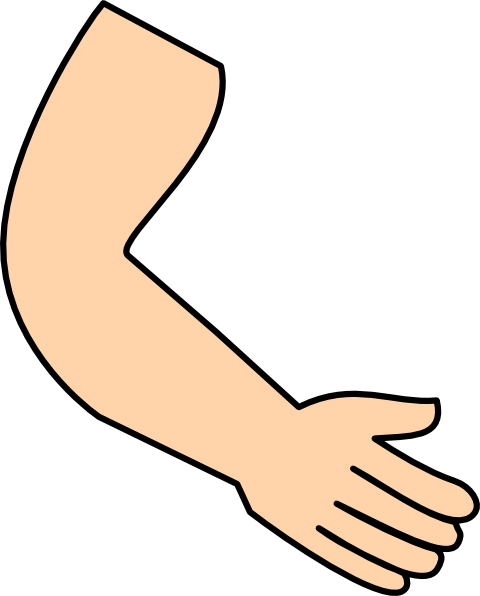 Clipart arm black and white.