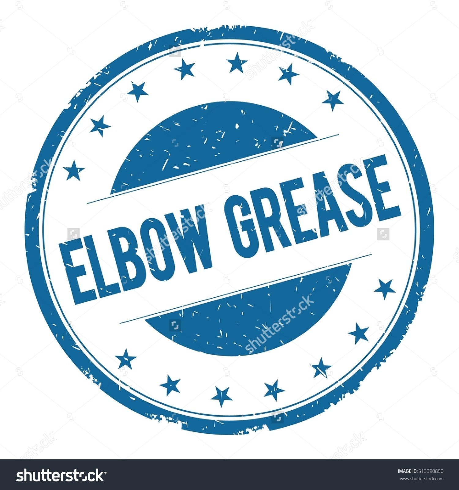 Elbow Grease Stamp Sign Text Word Stock Illustration 513390850.