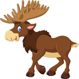Happy Cartoon Moose Stock Vector.