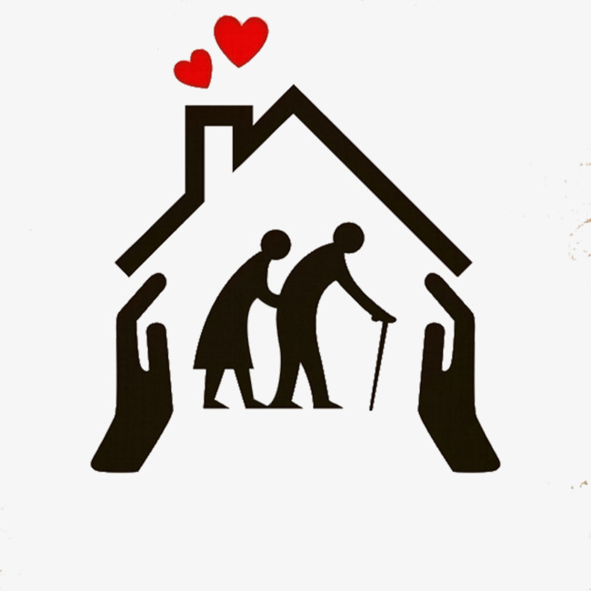 Caring clipart elderly care, Caring elderly care Transparent.