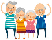 Elderly Dancing Clipart.