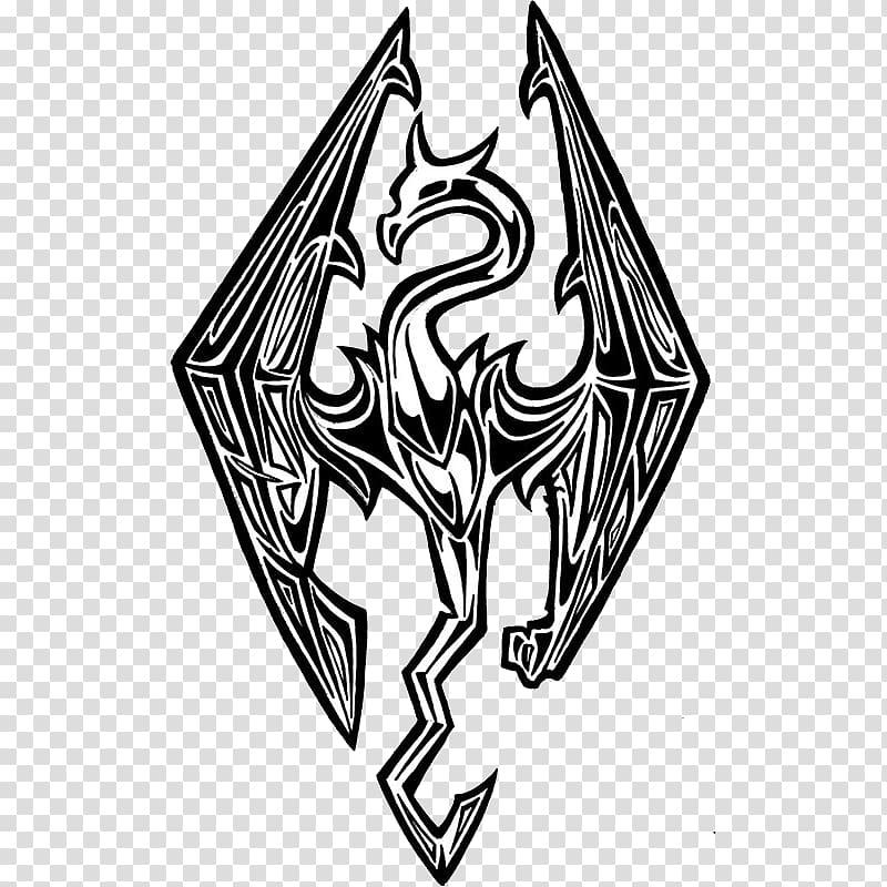 The Elder Scrolls V: Skyrim Logo Video game Dragon T.