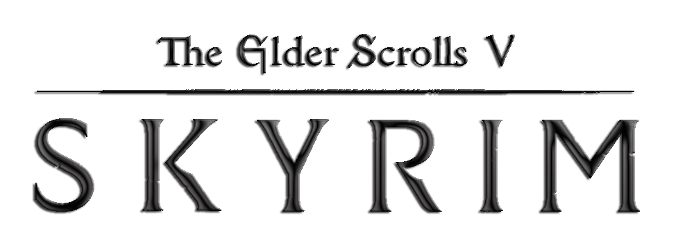 Elder Scrolls Skyrim Logo transparent PNG.