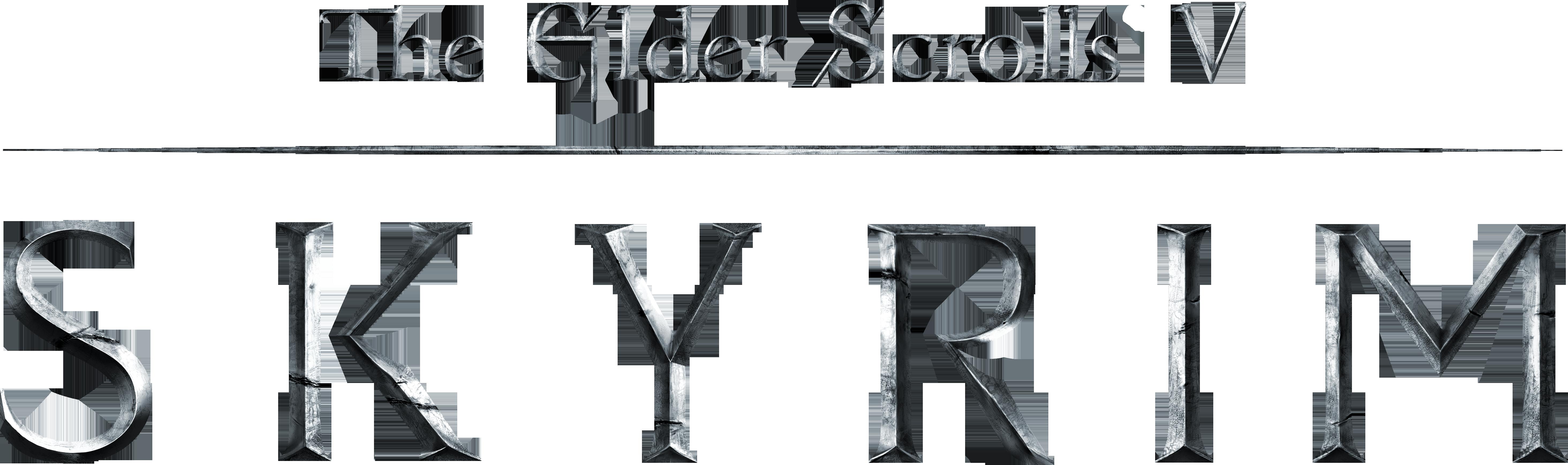 HD The Elder Scrolls Clipart Skyrim Logo.