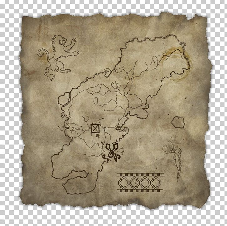 The Elder Scrolls Online Treasure Map Oblivion PNG, Clipart.