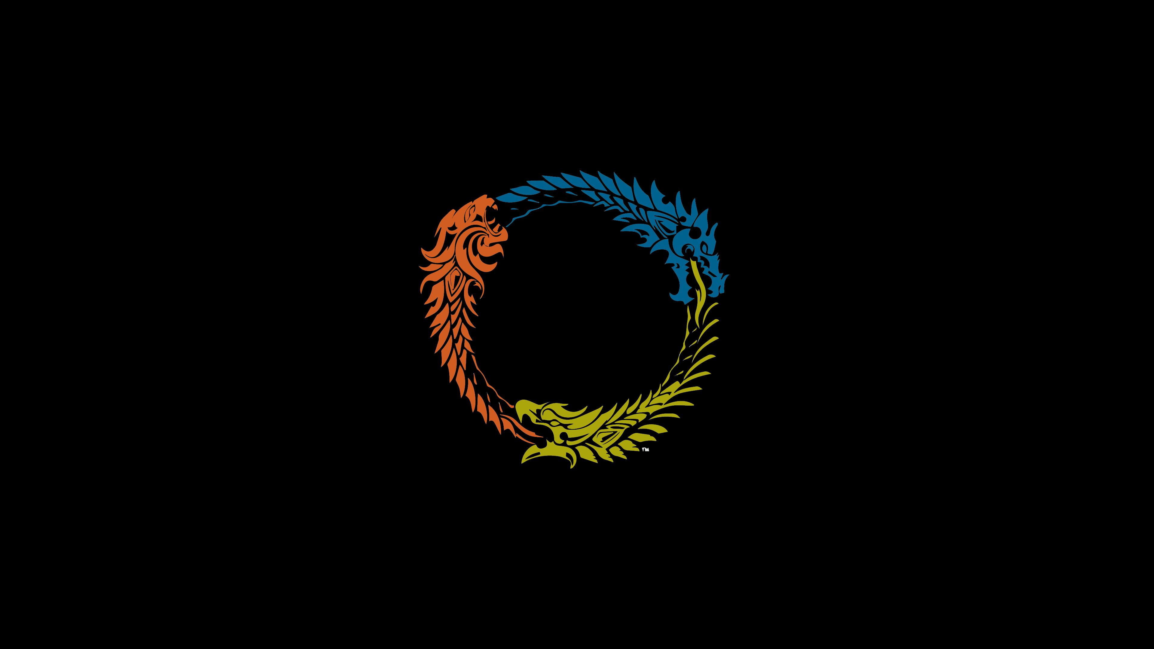 ESO logo Wallpaper (colored) : elderscrollsonline.