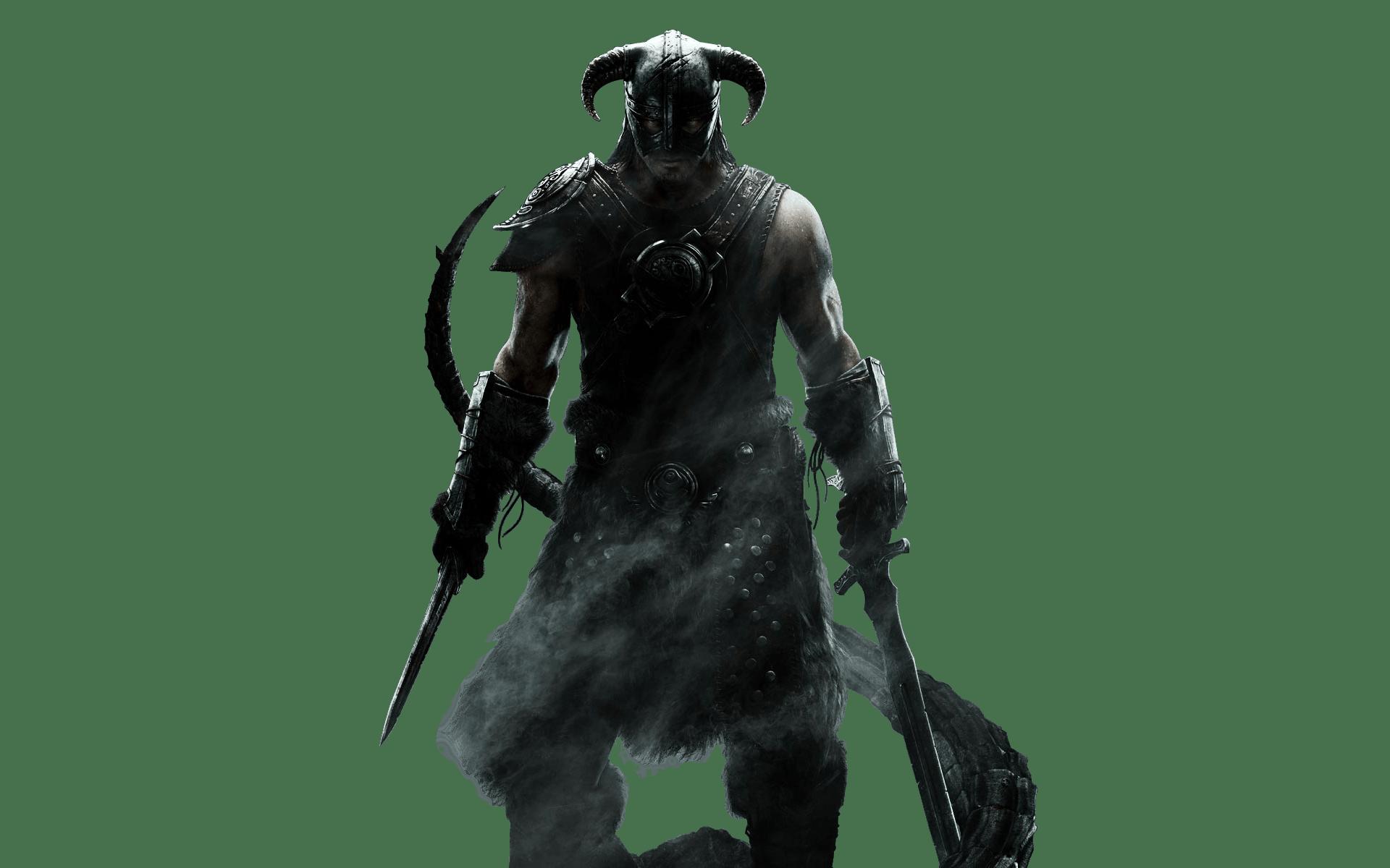 Elder Scrolls Skyrim Warrior transparent PNG.