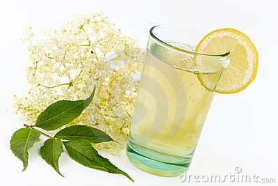 Elderberry Flower Drink Royalty Free Stock Photo.